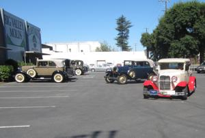 Model A car clubs pay visit to Lodi juicer factory