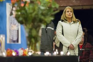 Vigil for a fallen officer