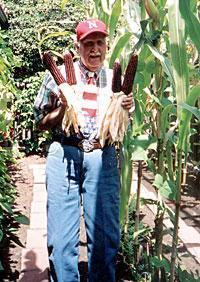 Red ears of corn remind Lodian of Nebraska