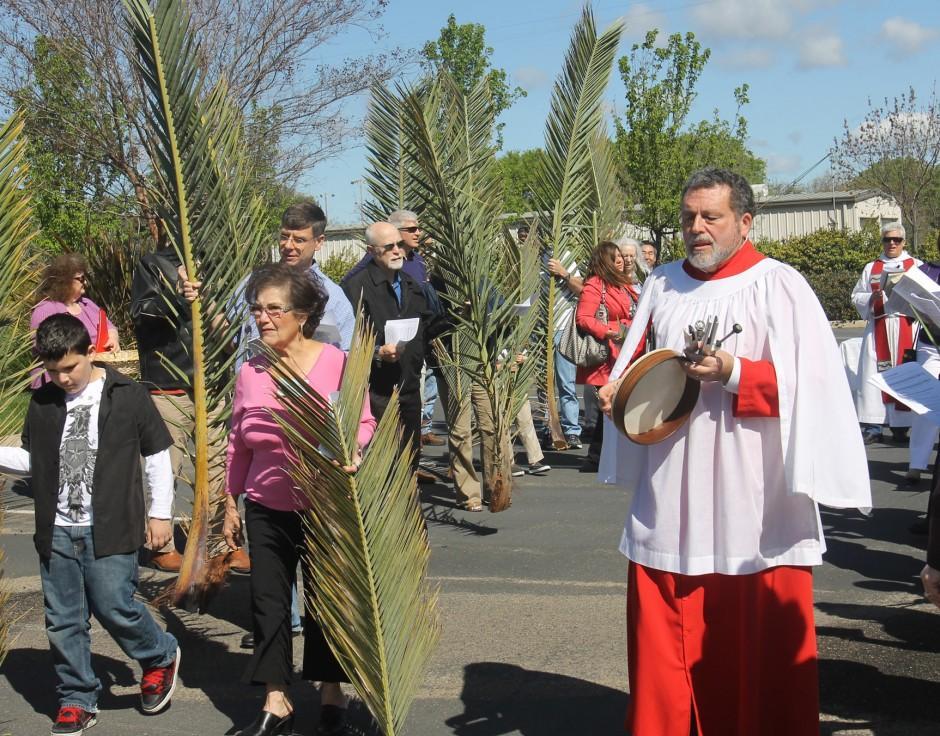 St. John's Episcopal Church marks Palm Sunday