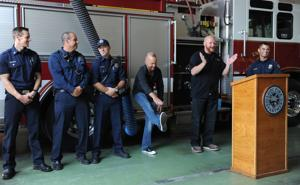 Heart attack survivor gives thanks to Lodi Fire Department and AMR staff