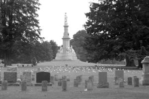 Stockton Reacts To News Of Gettysburg: The Soldiers National Monument, seen at Gettysburg National Cemetery on July 4, 2003, honors the soldiers who lost their lives at the Battle of Gettysburg during the Civil War, which took place 150 years ago. - Wikimedia Commons, Henry Hartley/Courtesy photograph