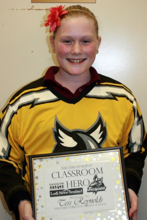 Vineyard Christian Middle School names Classroom Heroes