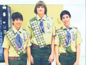 Three earn Eagle Scout Rank