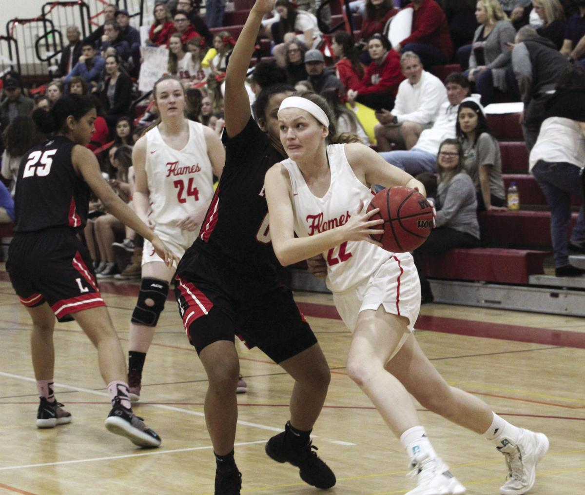 Girls basketball: Flames' playoff hopes cooled