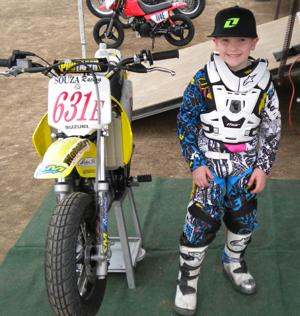 Evan Souza, 7, wins event at Lodi Cycle Bowl