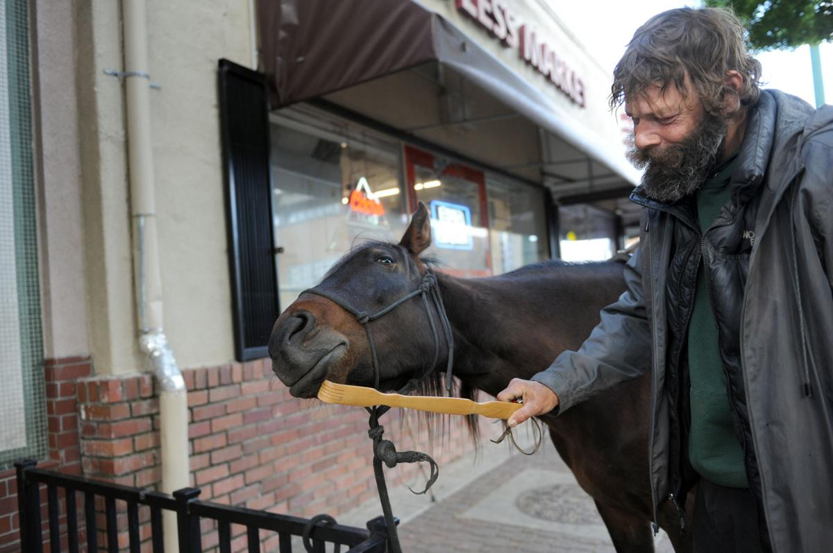 The homeless horseman: Frank Turpen and Tommy Girl are turning heads in Lodi