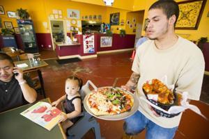 Pizza buffet, frog legs at Woodbridge Pizzeria in Lodi