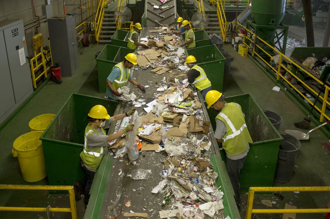 California Waste Recovery Systems recycling center helps keep landfills from overflowing