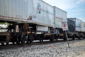 Union Pacific Railroad representative Israel Maldonado shares rail safety tips