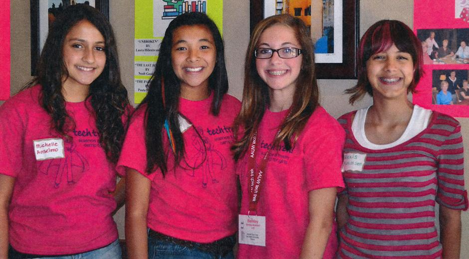 American Association of University Women features Tech Trekker students at kick-off luncheon