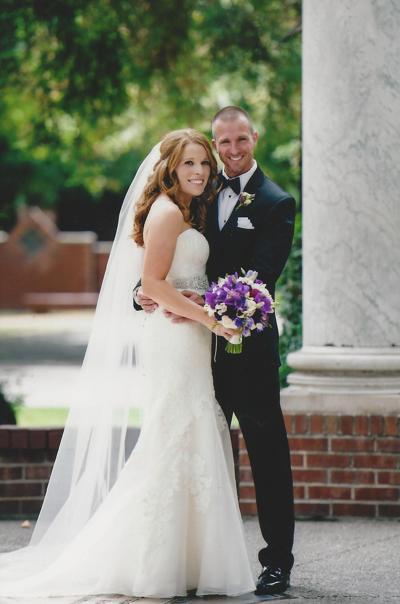 Jonathan McComb and April Van Zant were married at Morris Chapel