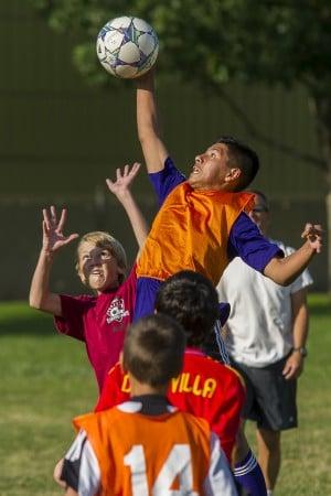 Lodi soccer coach Mark Whittock plays to beat local gangs