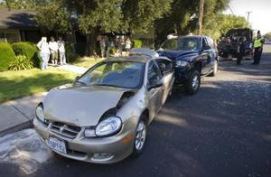 Three-car collision on Ham Lane