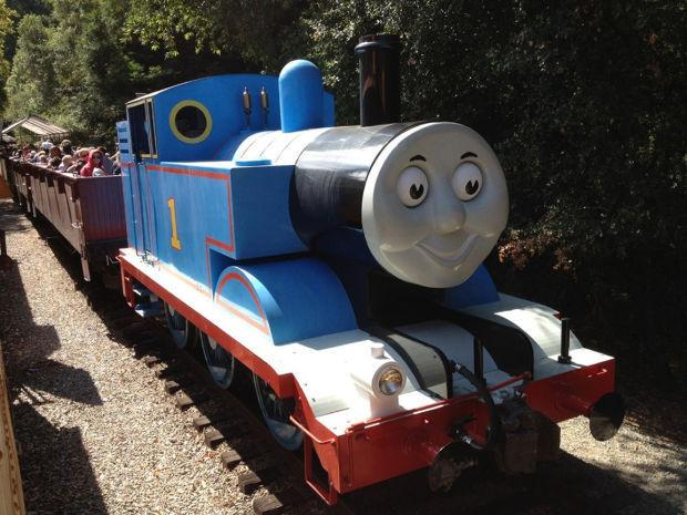 Take a ride on Thomas the Tank Engine at Roaring Camp
