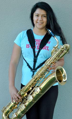Tokay High School Band member Maria Rios attends band summer camp