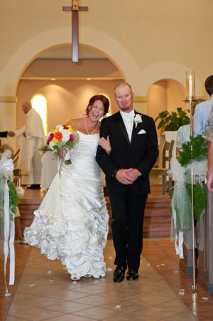 Chad Smith, Jaimie Mendoza married in August at St. Christopher's Catholic Church in Galt