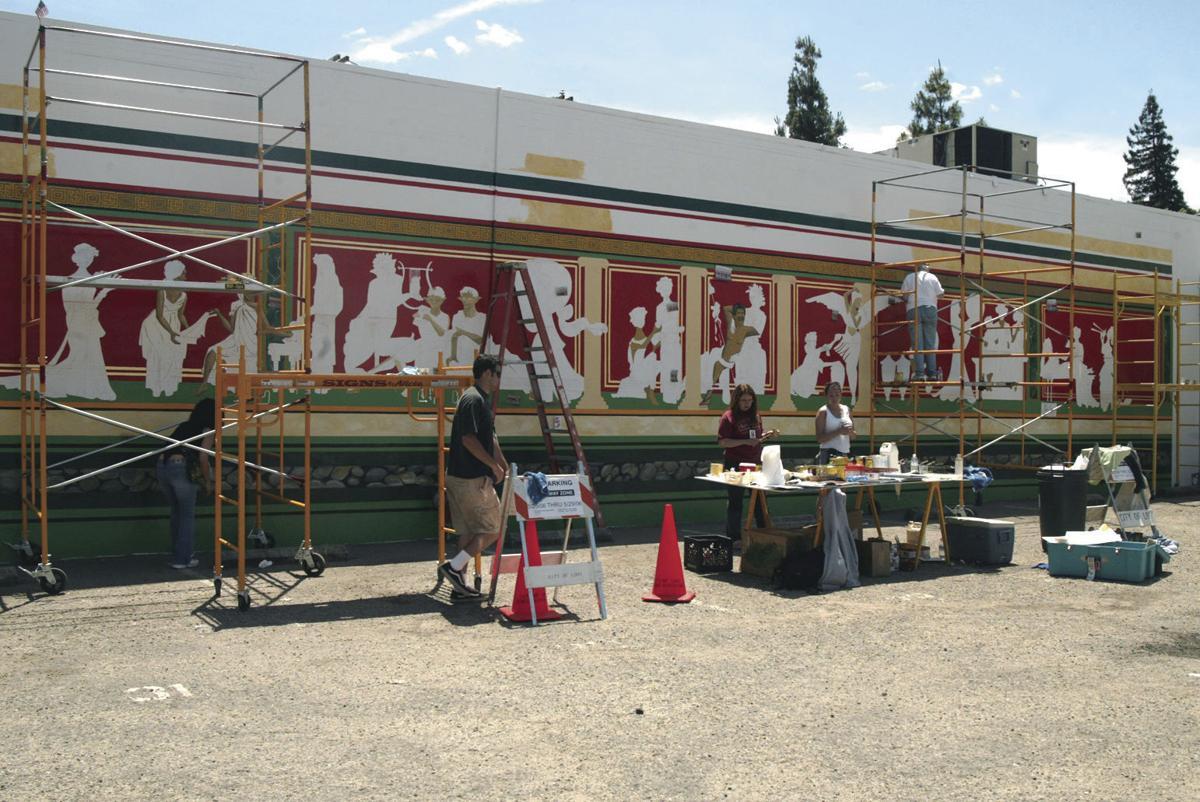 Lodi's centennial mural painted over to make building repairs