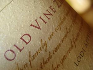 Old Vine on the label