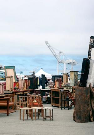 Browse through hundreds of dealer booths at the Alameda Point Antiques Faire