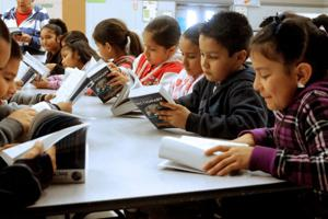 Lawrence Elementary School students receive dictionaries