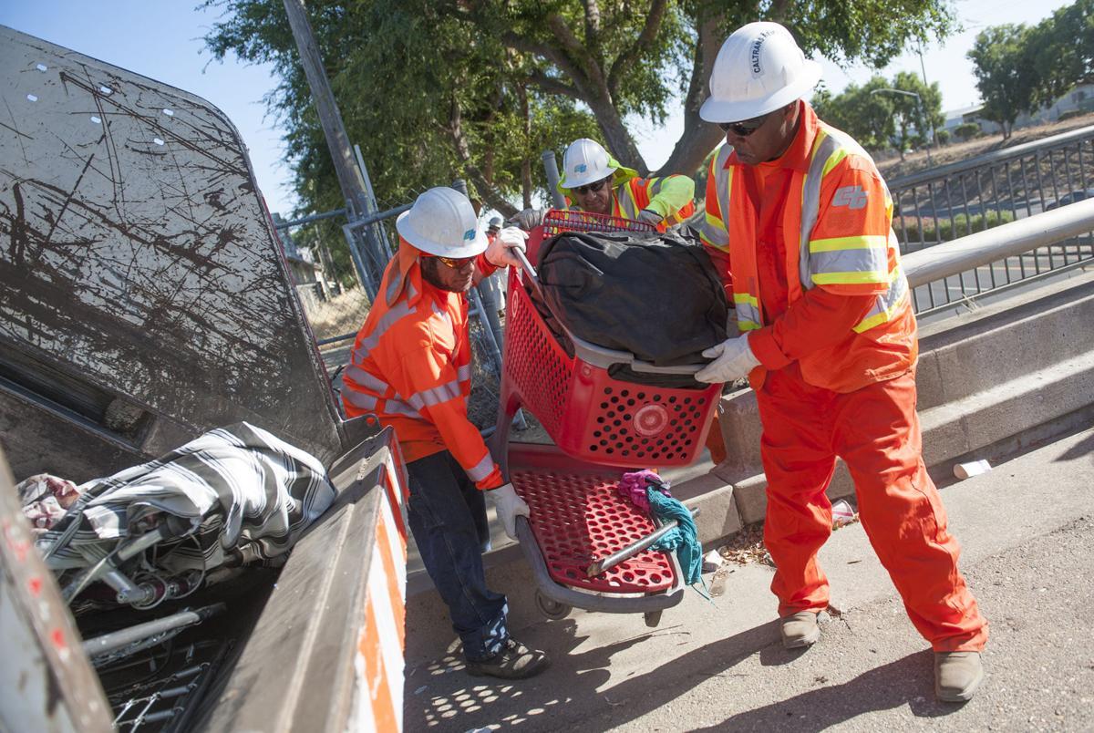 Trash from Lodi homeless area hauled away
