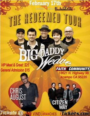 Redeemed Tour Flyer