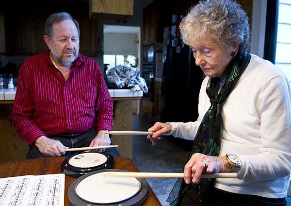 Lodi woman, 95, playing drums after 80-plus year hiatus