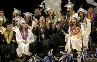 Jokes, hugs cap Lodi Academy graduation