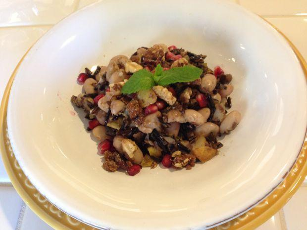 Cranberry beans and comice pears
