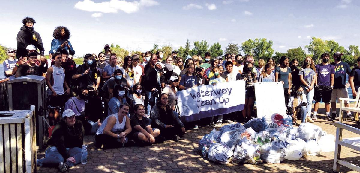 Volunteers pick up 166 pounds of trash and debris along Lodi Lake