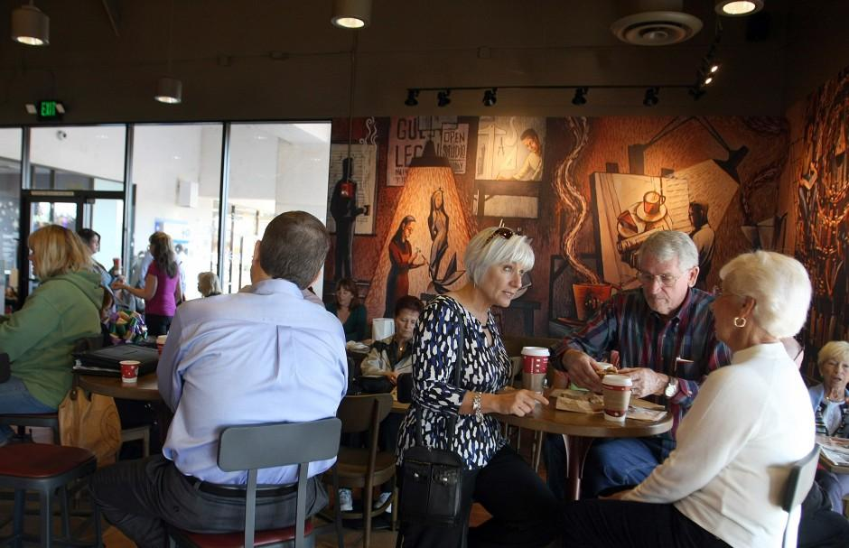 Local Starbucks reopens with new look