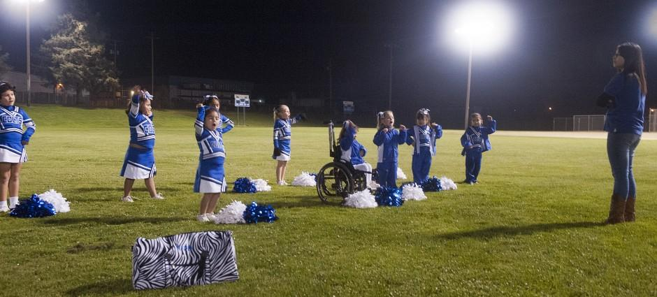 Tokay High School senior Tara Soto shares football passion with young Colts