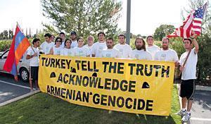 Group marches to mark Armenian genocide