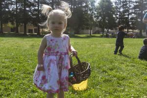 Hutchins Street Square Easter egg hunt