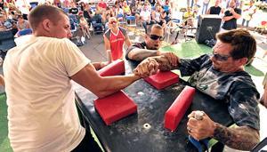 Flexing his talent: Lodi's Alex Coleman winning the arms race
