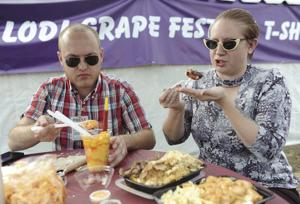 Testing tasty treats at Grape Festival