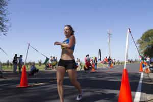 Runners race on rural roads in Lodi Mile