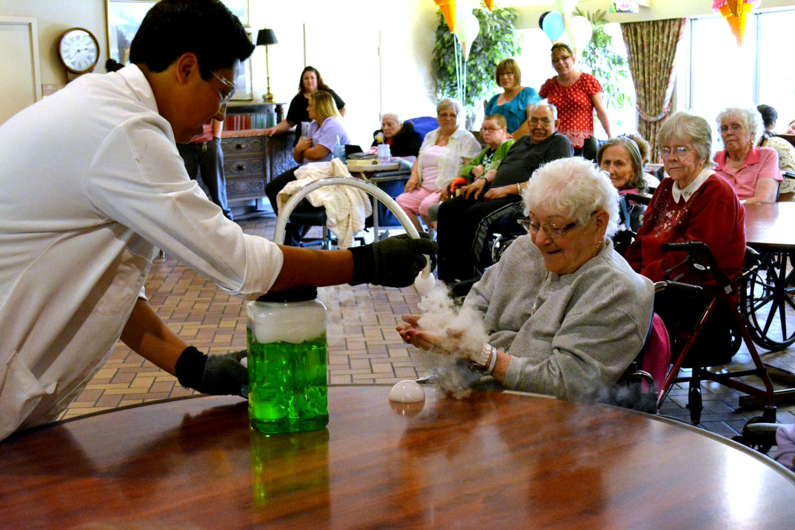 Vienna Nursing and Rehab Center celebrates Backpack to School with science, sundaes