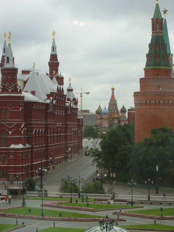 View of St. Basil's Cathedral Red Square Moscow from Hotel Room