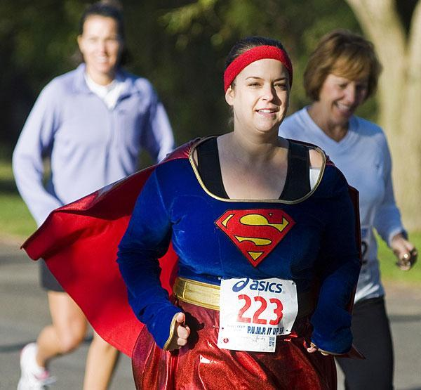 Lodi's 'Biggest Loser' Christy Richesin runs 5K Halloween race