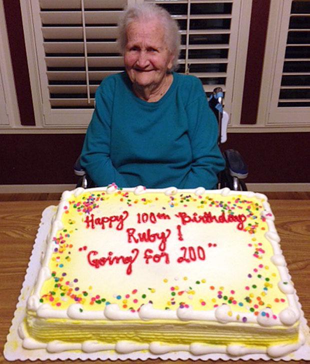 Ruby Humphrey celebrates her 100th birthday