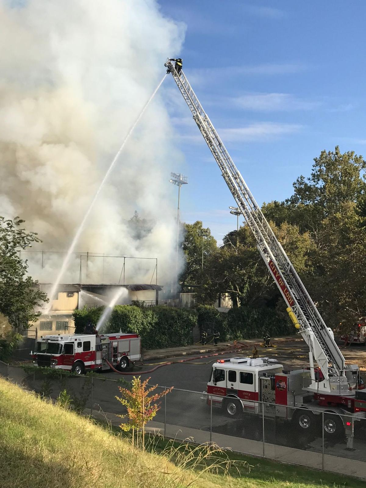 Fire reported at Zupo Field