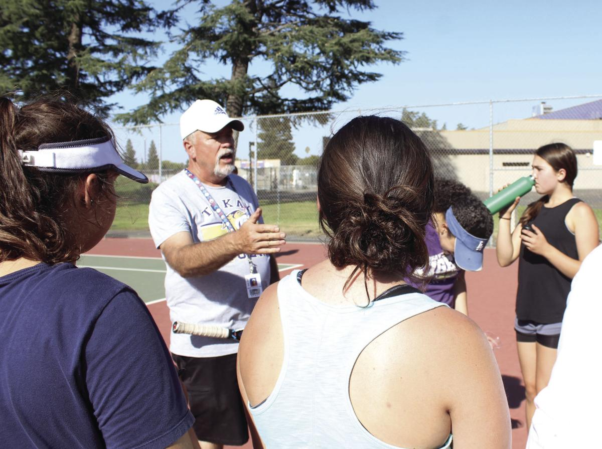 Girls tennis: Making a racquet: large turnout helps new Tokay coach