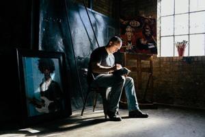 Utah artist Darren Gygi visits Lodi's Antiquarium to sign collection of home decor art prints
