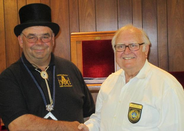 Masonic member honored for 50 years of service to fraternity
