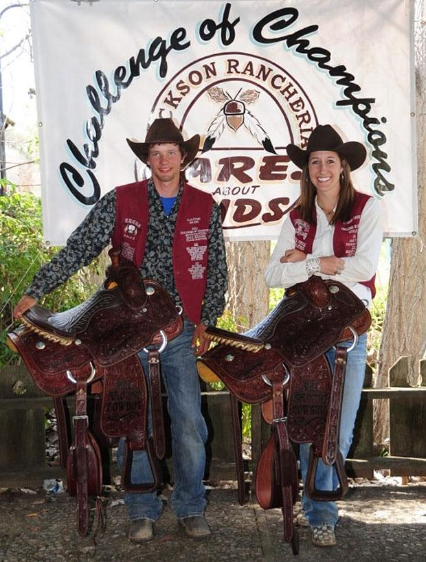 Local riders Cheyanne Carpenter, Clayton Brum corral state rodeo titles