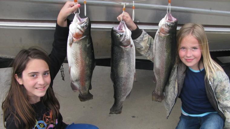 First time fishing/girls rock!