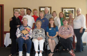 Soroptimists Celebrate 68 Years In Lodi: Lodi Soroptimists celebrated 68 years in Lodi. Back row from left are: Bev Lacy, Pat Fehling, Tory Ross, Barbara Warburton, Lynn Hendricks, Lori Klarer, Ora Hoover, Betsy Peterson, Gerry Shook and Carol Maas; and front row from left are: Deb Miller, Jean Beckman, Germaine Burke and Sue Kiminkinen.  - Courtesy photograph