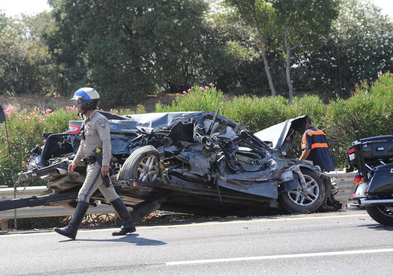 Minor injuries in four-vehicle collision near Acampo
